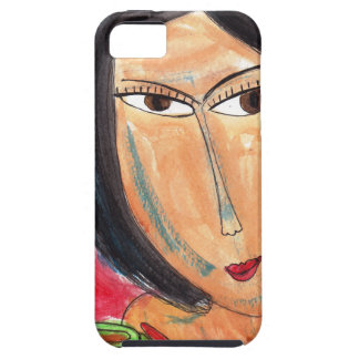 Woman and Latte iPhone 5 Covers