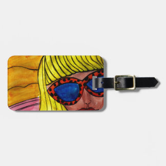 Woman and UFO Luggage Tag
