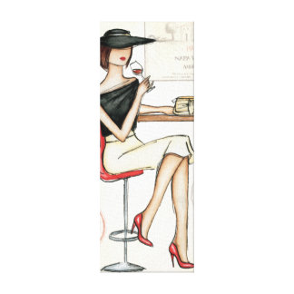 Woman and Wine Glass Canvas Print