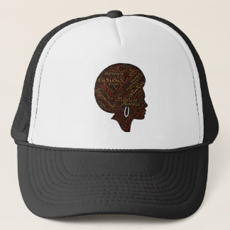 woman attri trucker hat
