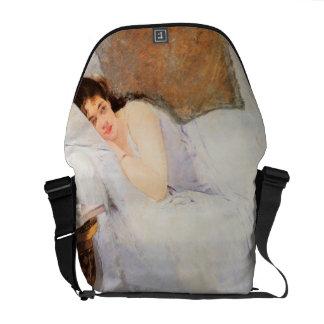 Woman Awakening, 1876 (oil on canvas) Messenger Bags