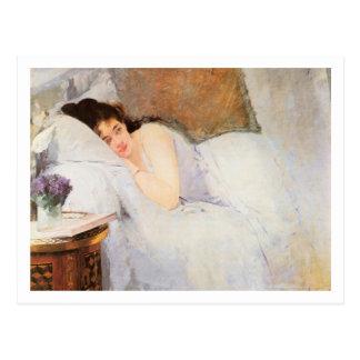 Woman Awakening, 1876 (oil on canvas) Postcard