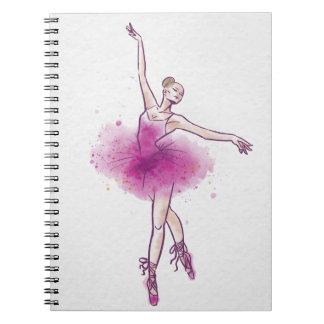 woman ballet dancer notebook