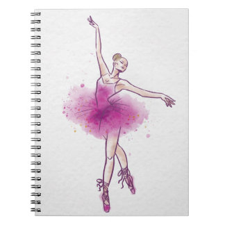 woman ballet dancer spiral notebooks
