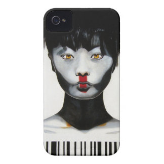 Woman Barcode iPhone 4 Case