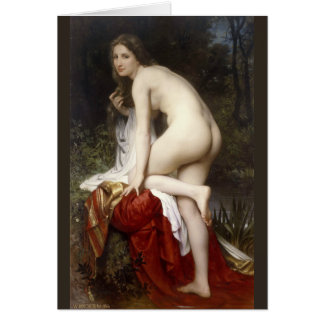 Woman Bathing (Baigneuse) by Bouguereau Card