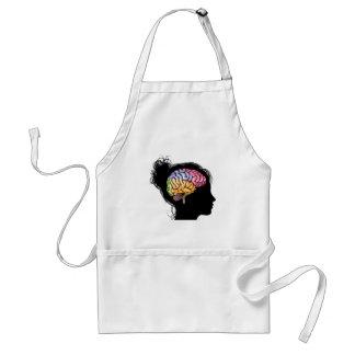 Woman brain concept apron
