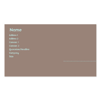 Woman - Business Pack Of Standard Business Cards