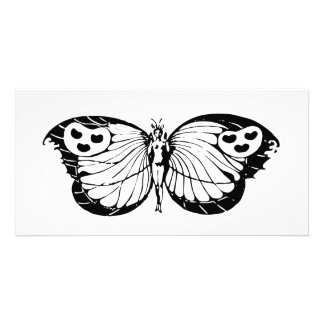 Woman Butterfly Personalized Photo Card