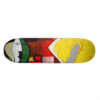 """Woman Butters Toast"" Skateboard"