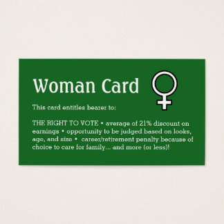 "Woman Card, Business, 3.5"" x 2.0"", 100 pack Business Card"