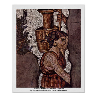 Woman Carrying A Pitcher Of Fragment Poster