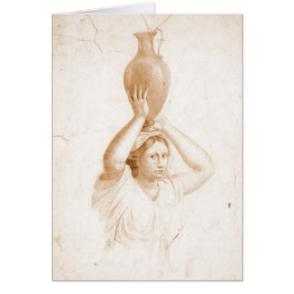 Woman Carrying Jug 1820 Greeting Card