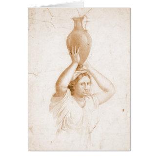 Woman Carrying Jug 1820 Greeting Card