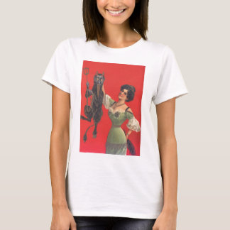 Woman Catching Krampus T-Shirt