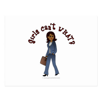 Woman CEO in Business Suit Postcard