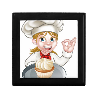 Woman Chef or Baker Cartoon Gift Box