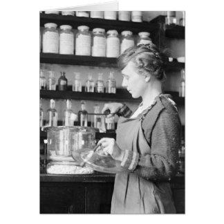 Woman Chemist, 1919 Card
