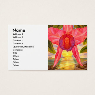 Woman Clothed In Sunset - Business card