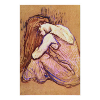 Woman Combing Hair by Toulouse-Lautrec Poster