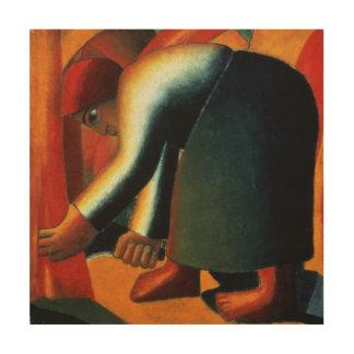 Woman Cutting, c.1900 Wood Canvas
