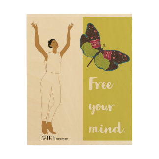 Woman dancer releases butterfly poster