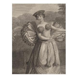 Woman Dancing, Otaheite, Tahiti Postcard