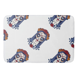 Woman Day of the Dead Bath Mats