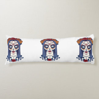Woman Day of the Dead Body Cushion