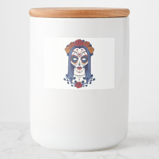 Woman Day of the Dead Food Label