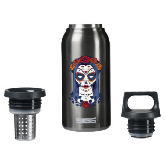 Woman Day of the Dead Insulated Water Bottle