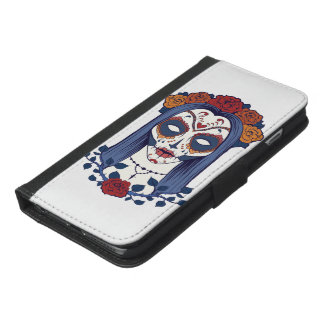 Woman Day of the Dead iPhone 6/6s Plus Wallet Case