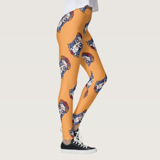 Woman Day of the Dead Leggings