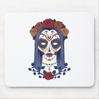 Woman Day of the Dead Mouse Pad