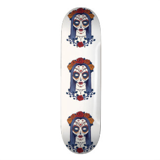 Woman Day of the Dead Skate Board