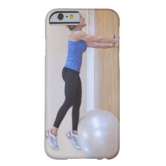 Woman doing exercise pose barely there iPhone 6 case
