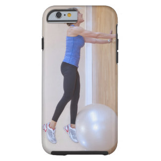 Woman doing exercise pose tough iPhone 6 case