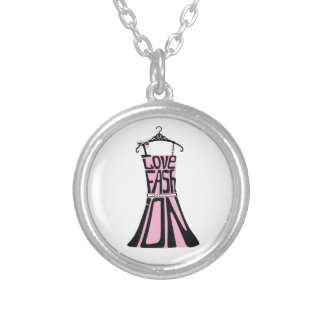 Woman dress from words I love fashion Pendants