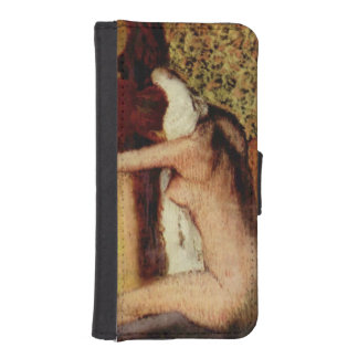 Woman Drying Her Neck by Edgar Degas iPhone 5 Wallet Cases