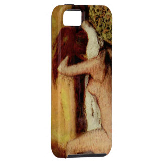 Woman Drying Her Neck iPhone 5 Covers