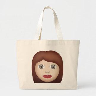 Woman Emoji Jumbo Tote Bag