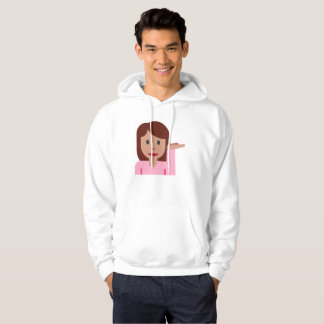 woman emoji mens hooded hoodie sweatshirt hoody