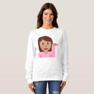 woman emoji womens sweatshirt