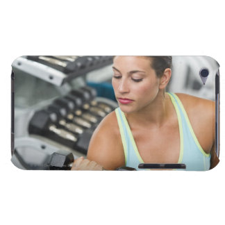 Woman exercising with dumbbells Case-Mate iPod touch case