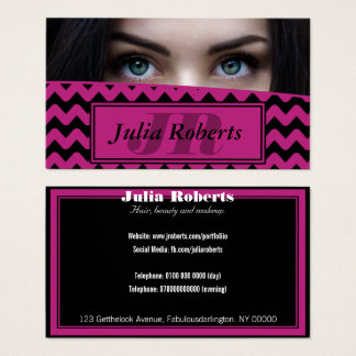 Woman Eyes Photo Business Card