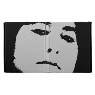 woman face iPad folio cover