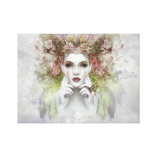 "Woman Face Portrait 12"" x 12"",1.5"" Wall Canvas Art"