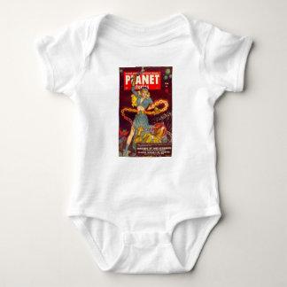 Woman Fighting Monster Baby Bodysuit