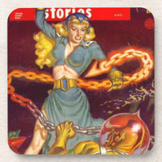 Woman Fighting Monster Coaster