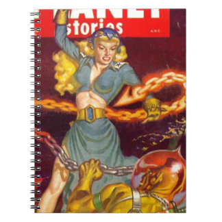 Woman Fighting Monster Notebooks
